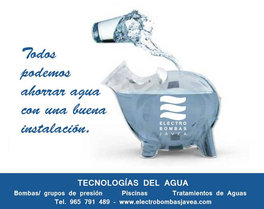 Ahorro de agua instalando grupo de presión